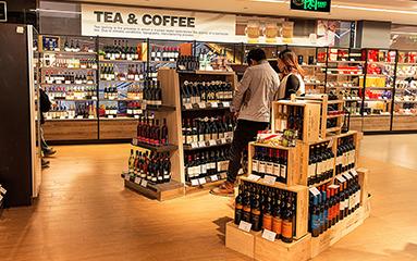 Wine cabinet store case